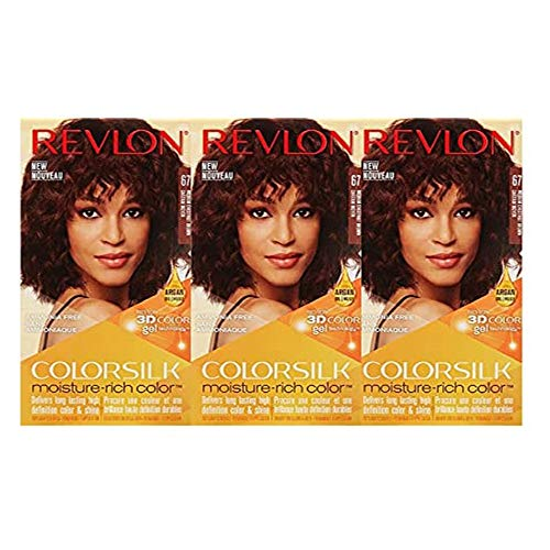 Revlon Colorsilk Moisture Rich Hair Color, Medium Chestnut Brown No.67, 3 Count