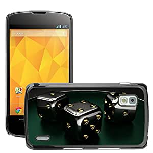 Hot Style Cell Phone PC Hard Case Cover // M00044382 cube dice games gambling artistic // LG Nexus 4