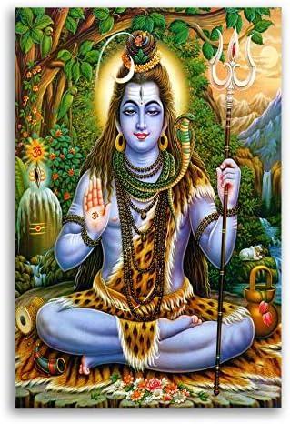 Tamatina Canvas Paintings - Lord Shiva Mahadeva - Mahakal