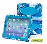 Ipad 4 Case,ipad 3 Case,ipad 2 Case for Kids,TRAVELLOR Shockproof Dirtprffo Snowproof Rainproof Case For Ipad 2/3/4 with stand (Navy-Blue)