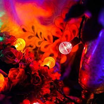 MAXINDA Led Globe Ball Light Strings with G30 Bulbs,13Ft 25 Outdoor Christmas Light Colored,Commercial Grade Decorative Holiday Garden Patio Wedding Bar Lights
