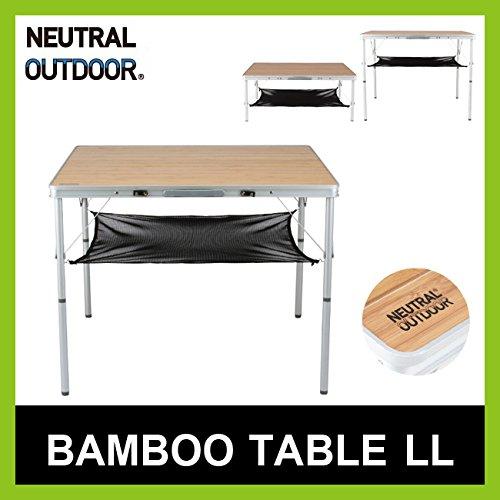 ニュートラルアウトドア バンブーテーブル LL 折りたたみ式 コンパクト Bamboo Table B06XPH43J6