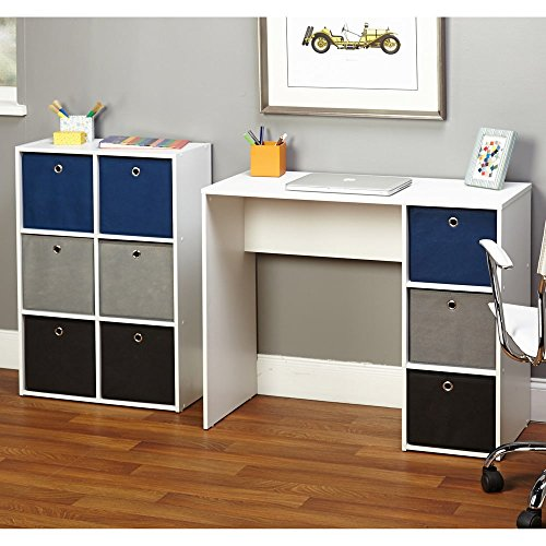 Simple Living Jolie Large Blue Writing Desk and Bookcase Set by Simple Living Products