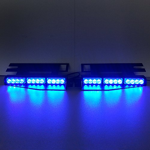Szcafelimy all blue led light exclusive split visor deck dash 2 x 12 szcafelimy all blue led light exclusive split visor deck dash 2 x 12 led strobe warning lightbar aloadofball Image collections