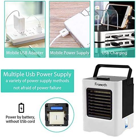 Mini Climatizador Portatil,Air Portatil Cooler 4 en1, Climatizador Evaporativo, Purificador y Humidificador, 3 Velocidades,Para Hogar Oficina y Viajes al Aire Libre(2019 Nuevo): Amazon.es: Bricolaje y herramientas