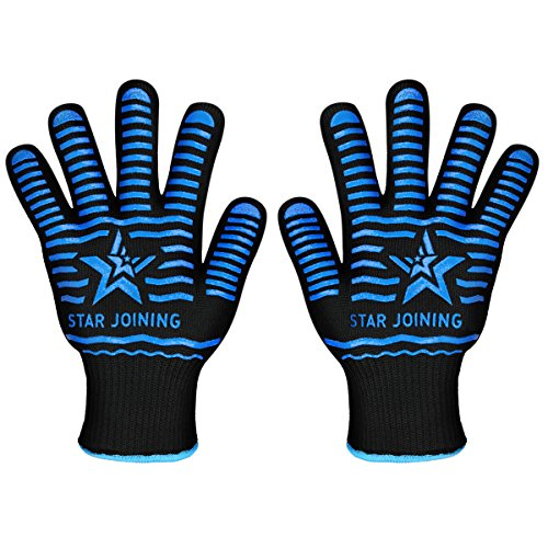 01a7175f8b8f1a STAR JOINING Oven Gloves,BBQ Grill Gloves Heat Resistant Gloves Microwave  High Performance Gloves For Fireplace