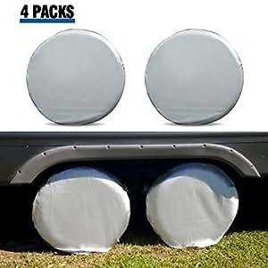 Amazon.com: Tire Covers for RV Wheel ELUTO Set of 4