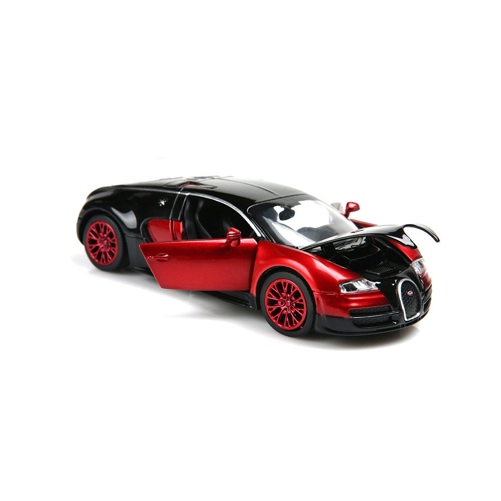 1:32 Bugatti Veyron diecast car ,Alloy Model Cars Toy Cars for 3 to 12 Years Old by ZHFUYS (red)