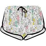 InterestPrint Women Summer Sports Shorts Elastic Yoga Running Casual Hot Pants