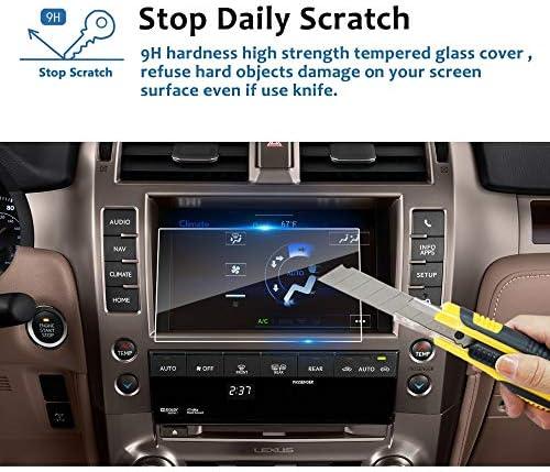 XHULIWQ スクリーンプロテクター車のGPSナビゲーションセンタータッチディスプレイ9H強化ガラススクリーン保護フィルム、レクサスGX 460 8インチ用