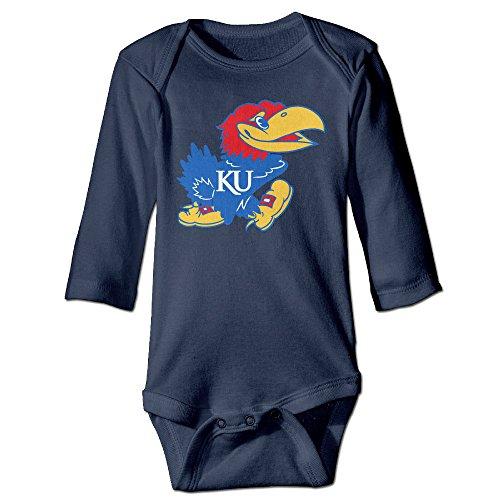 [JJVAT University Of Kansas Long Sleeve Outfits For 6-24 Months Infant Size 24 Months Navy] (Infant Sylvester Costumes)