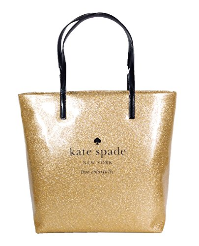 Kate Spade Holiday Drive Bon Shopper Tote - Sparkle Gold Patent Shopper Tote