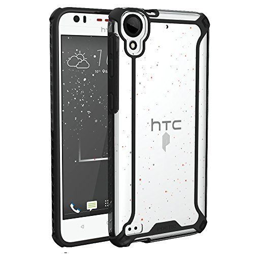 Poetic Affinity-HTC-Desire530-Black Case/HTC Desire 630 Case, POETIC Affinity Series Premium Thin/No Bulk/Slim fit/Clear/Dual Material Protective Bumper Case for HTC Desire 530/630 - Black