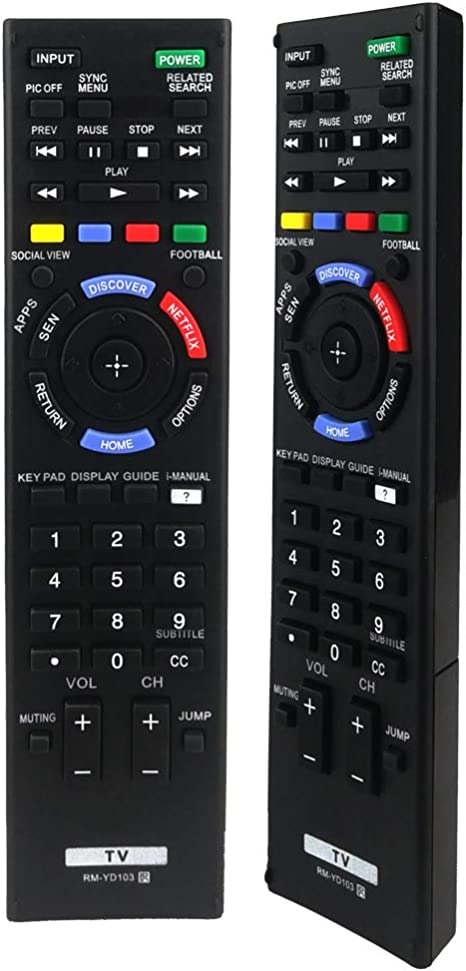 ANKIMI RM-YD103 RM-YD102 - Mando a Distancia Universal para televisor Sony Bravia HDTV LCD LED 3D Smart TV: Amazon.es: Electrónica