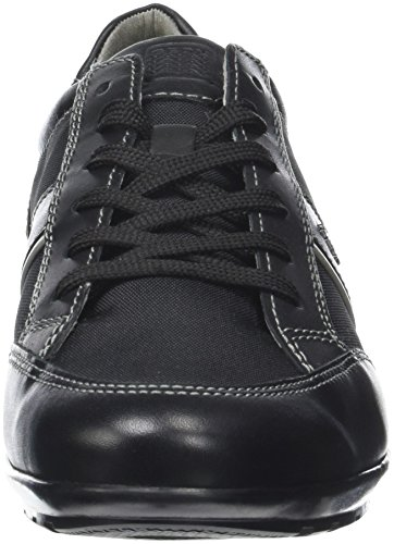 Noir Homme Geox Basses Uomo Sneakers Black Symbol A qAqwFzBZxO