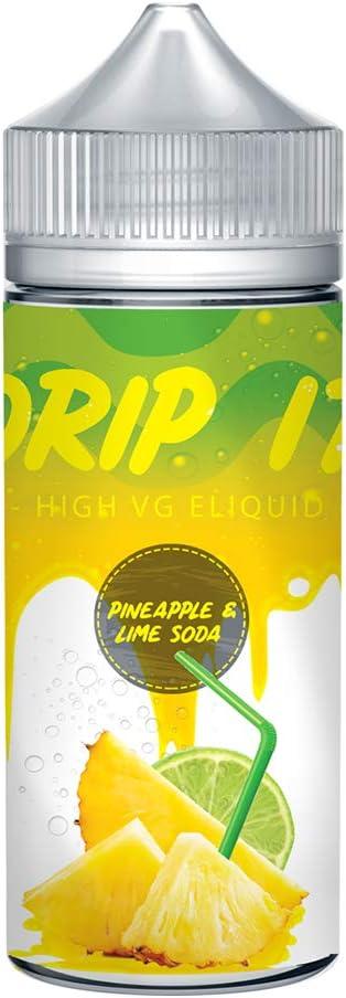 Drip it Premium 100ml Liquido Vaper o Cigarrillo Electronico, 35 Sabores, 0mg 70/30 VG/PG Elija su sabor (Sin nicotina) (Refresco de Piña y Lima): Amazon.es: Salud y cuidado personal
