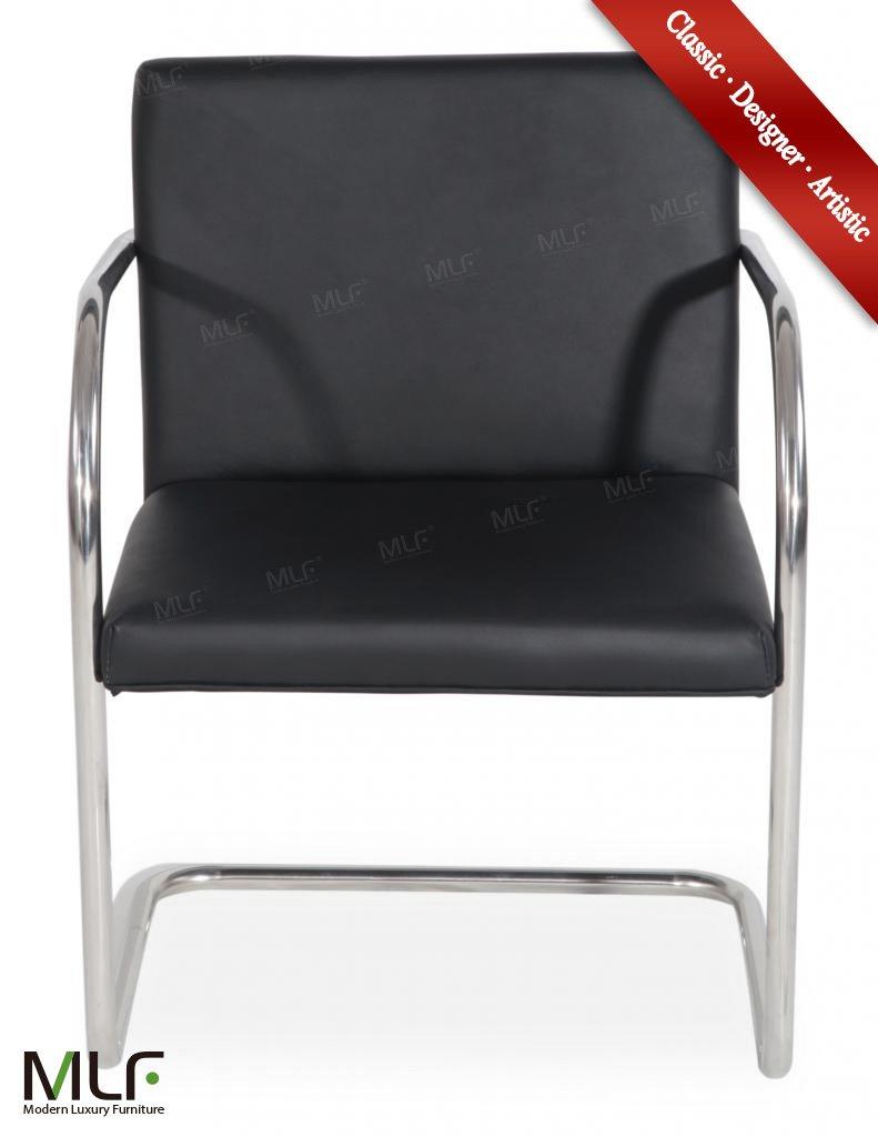 MLF® Brno (4 colores) silla Tubular. Cuero italiano ...