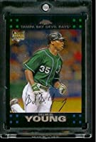 2007 Topps Chrome #299 Delmon Young Tampa Bay Devil Rays Rookies Baseball Card - Mint Condition - Shipped In Protective Display Case