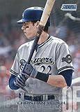 2018 Topps Stadium Club #136 Christian Yelich Milwaukee Brewers Baseball Card - GOTBASEBALLCARDS