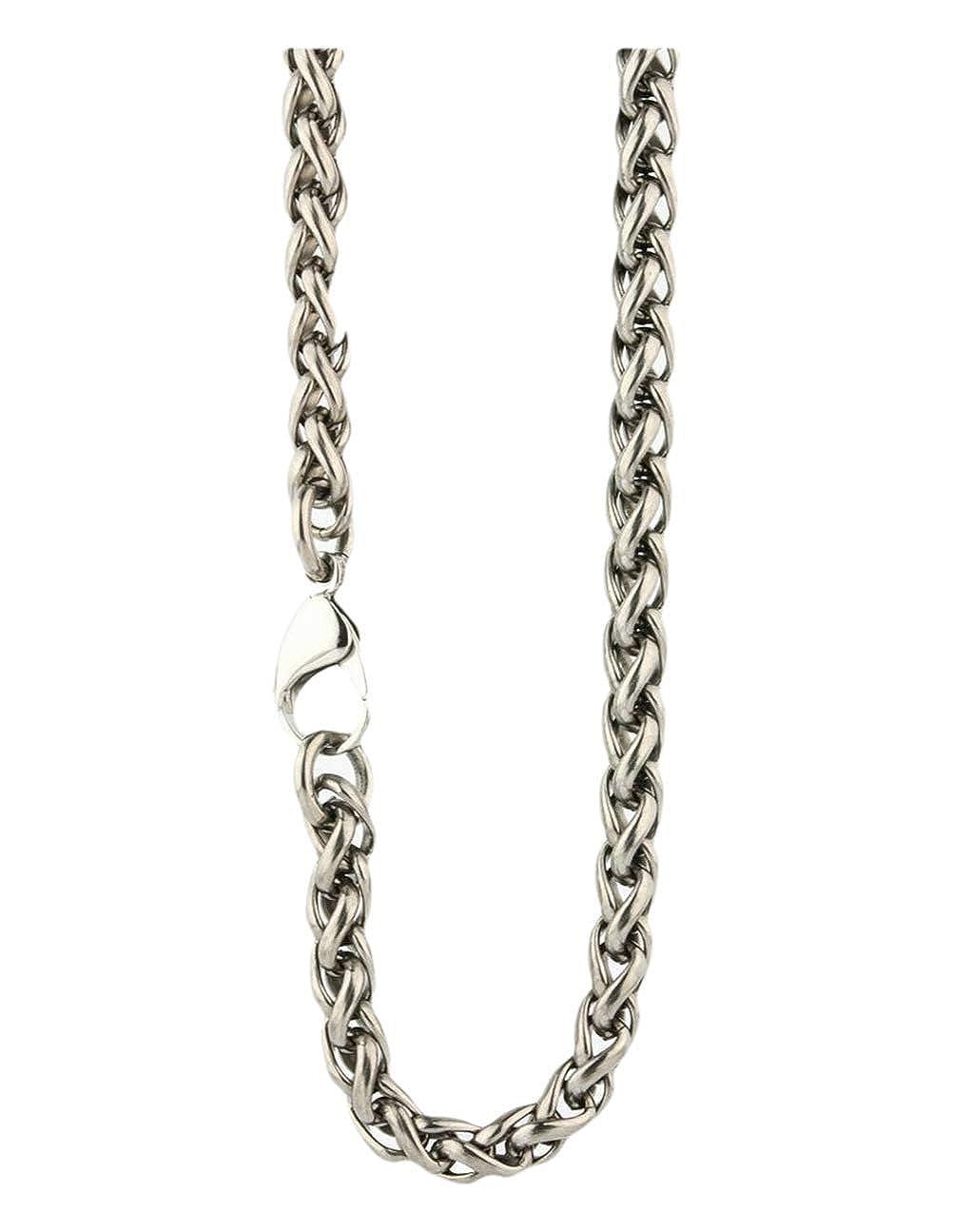 16 Ti2 Titanium Silver Chunky Wheat Chain