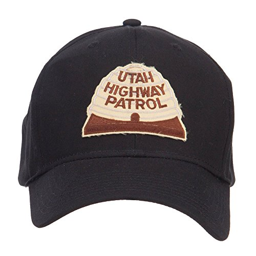 E4hats Utah State Highway Patrol Patched Cap - Black (Highway Patrol Hats)