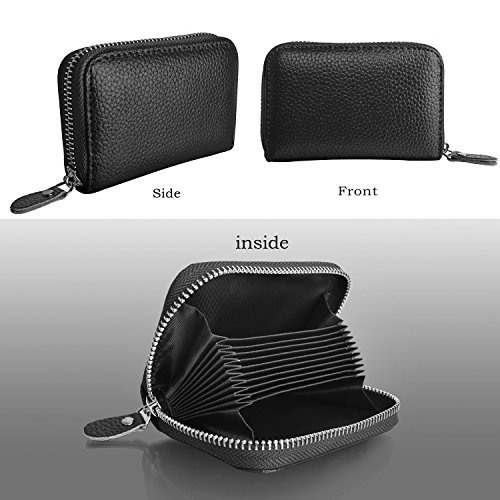 3e2f6a8f20f Genuine Leather Card Wallet for Men and Women, Credit Card Holder ...