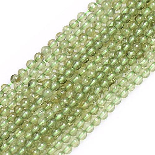 - Green Peridot Seed Beads for Jewelry Making Natural Gemstone Semi Precious 3mm Round 15