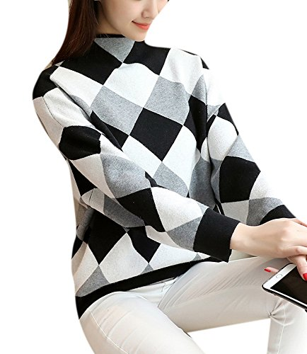 Women Argyle Sweater - 8