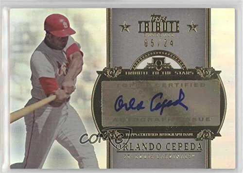(Orlando Cepeda #5/24 (Baseball Card) 2013 Topps Tribute - Tribute to the Stars Autographs #TSA-OC3)