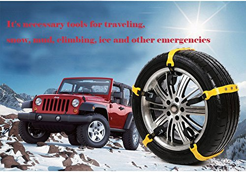 Snow Chains 10 Pcs Anti Slip Tire Chains Adjustable Emergency Traction Security Car Tire Snow Chains Fit for Most Car SUV Truck by BiBOSS (Image #9)