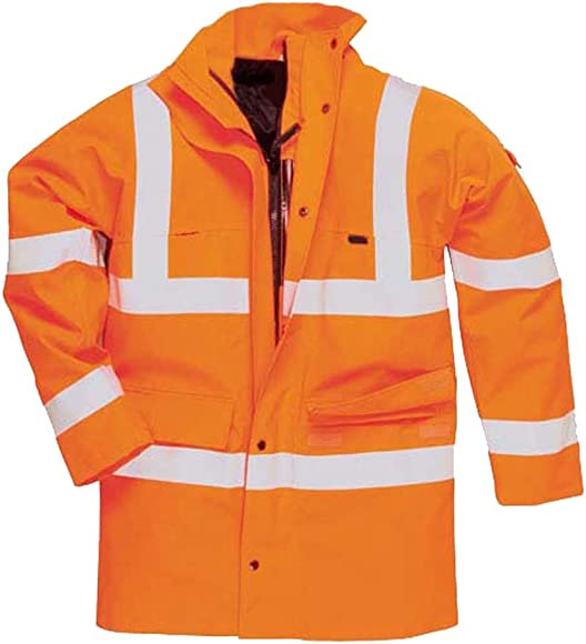 Hi Vis Viz Long Sleeve Waistcoat Vest By SITE KING Sizes S to 5XL WORK ROAD SAFETY