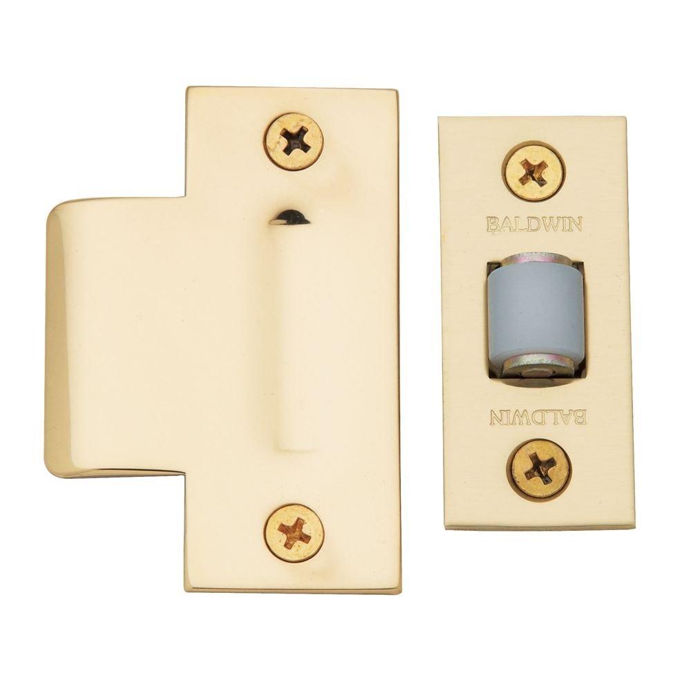 Baldwin 0440030 Adjustable Roller Catch, Bright Brass