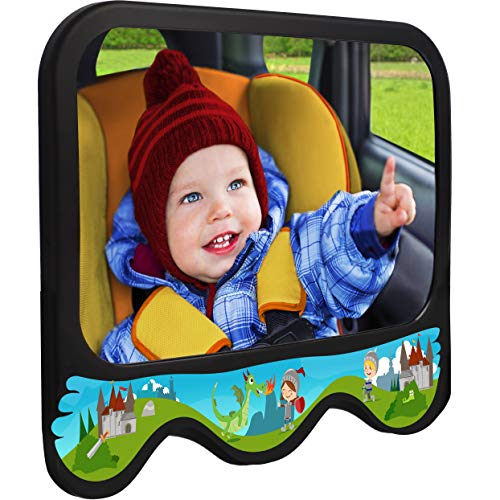 COZY GREENS Baby Car Mirror Dragon Theme | Baby Mirror