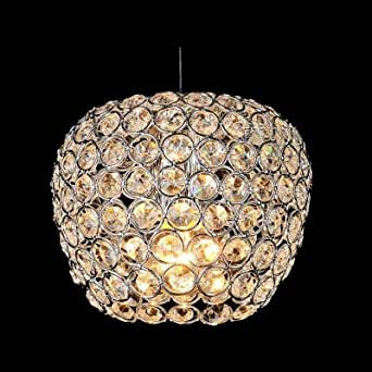 hua Warm and Chic Apple Shaped Mini Pendant Light Embedded by Sparkling Crystals