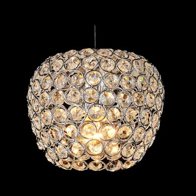 hua Warm and Chic Apple Shaped Mini Pendant Light Embedded by Sparkling Crystals ()
