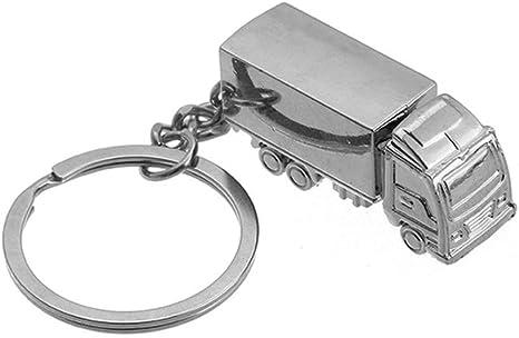 Odetojoy Schlüsselanhänger Lkw Metall Silber Poliert Kreative Lkw Anhänger Geschenk Küche Haushalt