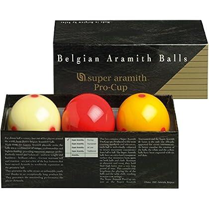 Image of Aramith 61.5 mm Super Armith Pro Cup Carom/Carambole Billiard/Pool Balls, Complete 3 Ball Set Billiard Balls