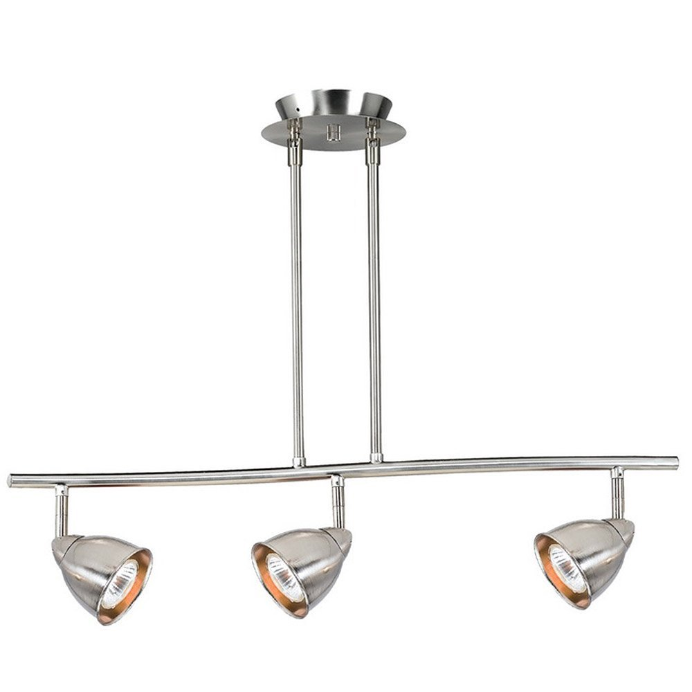 Cal Lighting SL-954-3-WH/MDB Three Light Pendant from Serpentine Collection 26.00 inches, Pwt, Nckl, B/S, Slvr. (Renewed)