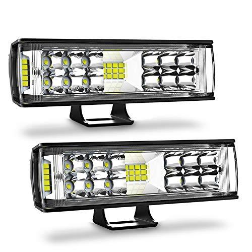 2pcs 6Inch 60W LED Work Light Bar Flood Driving Lights Off-Road Fog 4WD Boat ATV