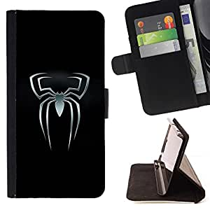 DEVIL CASE - FOR Samsung Galaxy S5 Mini, SM-G800 - Spider Superhero - Style PU Leather Case Wallet Flip Stand Flap Closure Cover