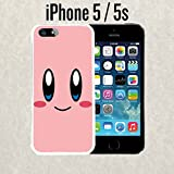 kirby iphone 5s case - iPhone Case Cartoon Girl Cute Kirby LOL for iPhone 5 / 5s Plastic White (Ships from CA)