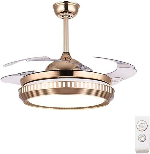 WBOX Ventiladores de Techo LED con lámpara, lámpara de Techo ...