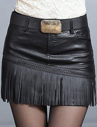 GSP-Damen Röcke - Leger Mini PU Mikro-elastisch