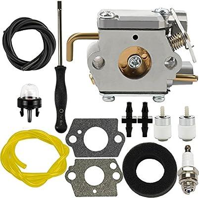 amazon com dalom 791 182875 carburetor w air filter fuel line for