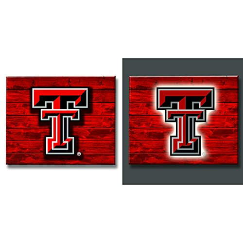 Team Sports America Texas Tech Red Raiders LED Metal Wall Art
