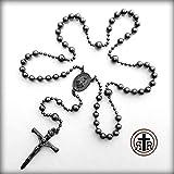 WWI Battle Beads® Catholic Military Combat Rosary in Gun Metal