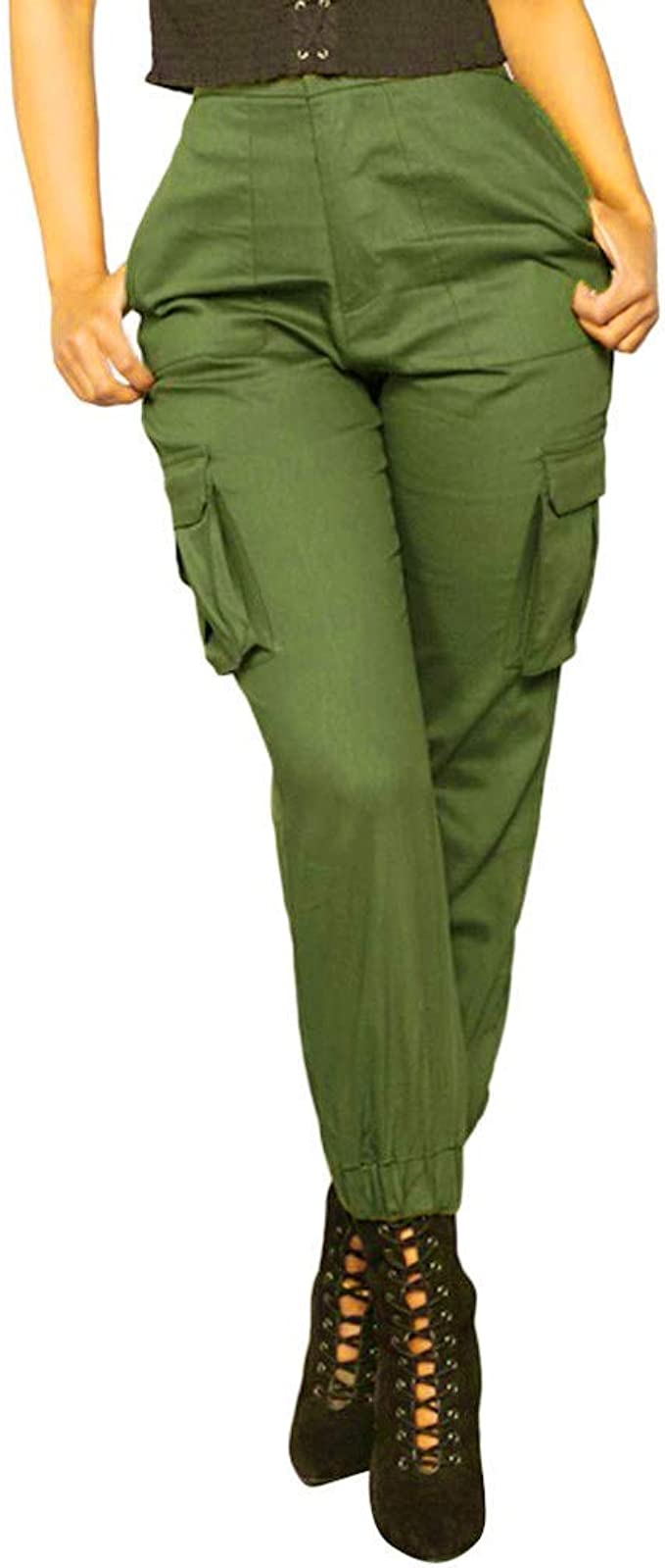 Ladies Cargo Combat Stretch Casual Pants Trousers Womens Slim Fit Sport Joggers