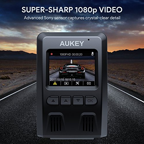 Amazon.com: Aukey Dual Dash Cam, 1080p HD cámara frontal y ...