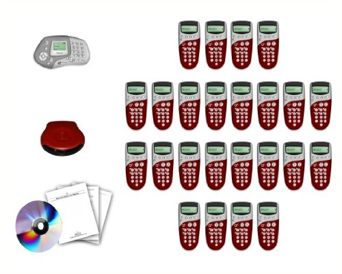 Qwizdom Complete Kit 24 Remotes (Clikers) + Teacher's Remote Q5 Student Response System SRS