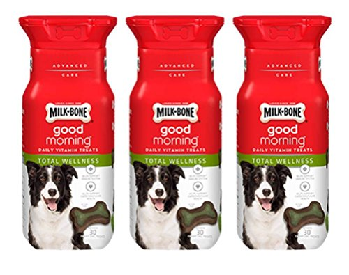 Milk-Bone Good Morning Daily Vitamin Treats Total Wellness - Pack of 3, 6 Oz. Ea.